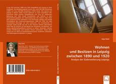Wohnen und Besitzen in Leipzig zwischen 1890 und 1920 kitap kapağı