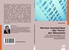 Bookcover of Horreur économique - Der Terror der Ökonomie
