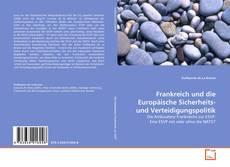 Buchcover von Frankreich und die Europäische Sicherheits- und Verteidigungspolitik