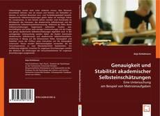 Bookcover of Genauigkeit und Stabilität akademischer Selbsteinschätzungen