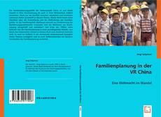 Couverture de Familienplanung in der VR China