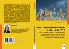 Couverture de Der Stellenwert der Umwelt im Recht der WTO