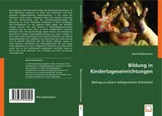 Buchcover von Bildung in Kindertageseinrichtungen