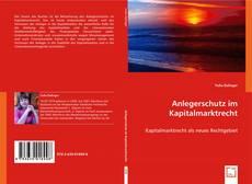 Bookcover of Anlegerschutz im Kapitalmarktrecht