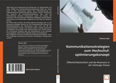 Bookcover of Kommunikationsstrategien zum Hochschuloptimierungskonzept