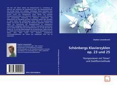 Buchcover von Schönbergs Klavierzyklen op. 23 und 25