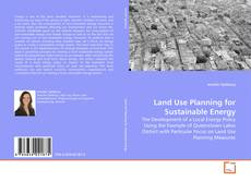 Bookcover of Land Use Planning for Sustainable Energy
