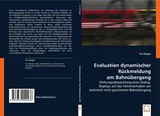 Evaluation dynamischer Rückmeldung am Bahnübergang kitap kapağı