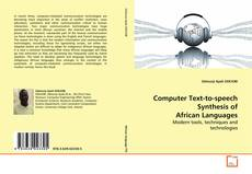 Bookcover of Computer Text-to-speech Synthesis of African Languages