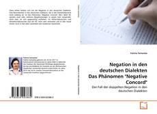 "Copertina di Negation in den deutschen Dialekten Das Phänomen ""Negative Concord"""