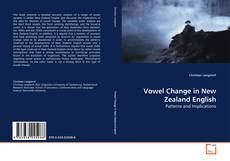 Buchcover von Vowel Change in New Zealand English
