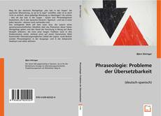 Buchcover von Phraseologie: Probleme der Übersetzbarkeit
