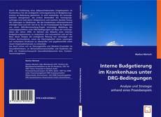Bookcover of Interne Budgetierung im Krankenhaus unter DRG-Bedingungen