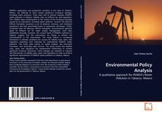 Environmental Policy Analysis kitap kapağı