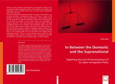 Bookcover of In Between the Domestic and the Supranational