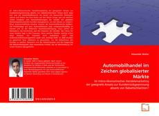 Portada del libro de Automobilhandel im Zeichen globalisierter Märkte