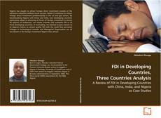 Bookcover of FDI in Developing Countries, Three Countries Analysis