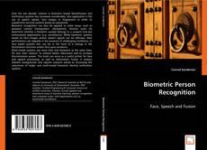 Capa do livro de Biometric Person Recognition