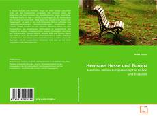 Bookcover of Hermann Hesse und Europa