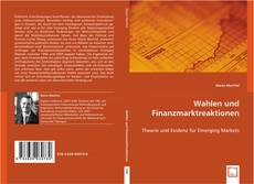 Bookcover of Wahlen und Finanzmarktreaktionen