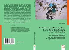 Portada del libro de Salztoleranz von Aster tripolium L. und deren Beeinflussung durch erhöhtes CO2