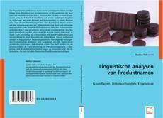 Couverture de Linguistische Analysen von Produktnamen