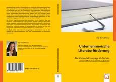 Couverture de Unternehmerische Literaturförderung
