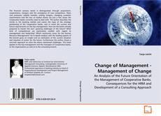 Portada del libro de Change of Management - Management of Change