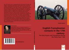 Bookcover of English-Transylvanian contacts in the 17th century