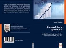 Borítókép a  Bilanzpolitische Spielräume - hoz