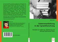 Capa do livro de Datenverarbeitung in der Sprachforschung