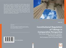 Copertina di Constitutional Regulation of Takings in Comparative Perspective