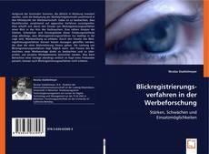 Обложка Blickregistrierungsverfahren in der Werbeforschung