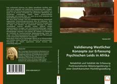 Buchcover von Validierung Westlicher Konzepte zur Erfassung Psychischen Leids in Afrika