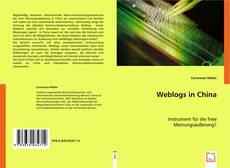 Portada del libro de Weblogs in China