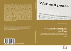 Bookcover of Metaberichterstattung im Krieg