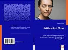 Bookcover of Gefühlsarbeit Pflege