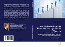 Portada del libro de Unternehmenskultur in Zeiten des demografischen Wandels