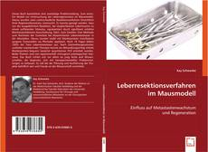 Capa do livro de Leberresektionsverfahren im Mausmodell