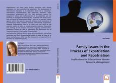 Portada del libro de Family Issues in the Process of Expatriation and Repatriation