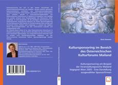 Copertina di Kultursponsoring im Bereich des Österreichischen Kulturforums Mailand