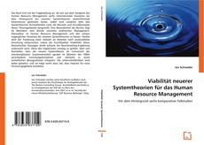 Обложка Viabilität neuerer Systemtheorien für das Human Resource Management