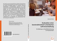Buchcover von Evaluation einer konstruktivistisch orientierten Lehrveranstaltung