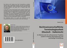 Bookcover of Rechtswissenschaftliche Terminologiearbeit (Deutsch - Italienisch)