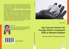 Buchcover von Key Success Factors for Foreign Direct Investment (FDI) in Western Balkan