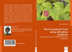 Plant Functional Traits along altitudinal Gradients kitap kapağı