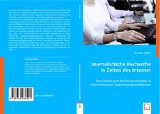 Capa do livro de Journalistische Recherche in Zeiten des Internet
