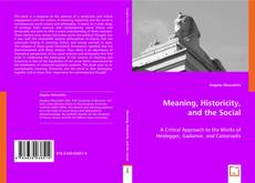 Buchcover von Meaning, Historicity, and the Social