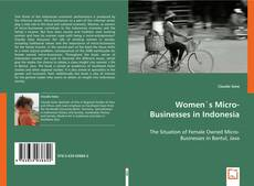 Couverture de Women`s Micro-Businesses in Indonesia