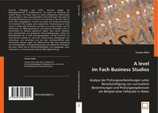 Portada del libro de A level im Fach Business Studies